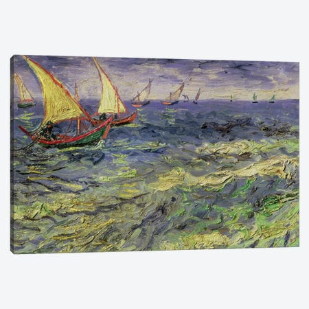 Seascape at Saintes-Maries  1888 Canvas Print #BMN9193} by Vincent van Gogh Canvas Print