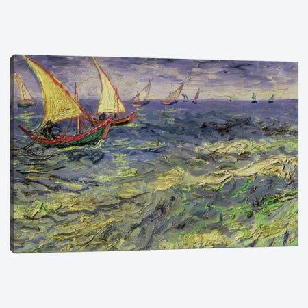 Seascape at Saintes-Maries  1888 Canvas Print #BMN9193} by Vincent van Gogh Canvas Print