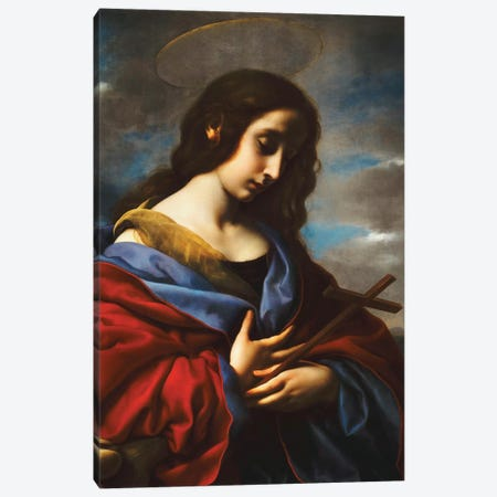 Saint Mary Magdalen, c.1650s Canvas Print #BMN9197} by Carlo Dolci Canvas Artwork