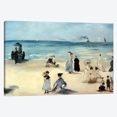 On the Beach, Boulogne-sur-Mer, 1868 Canvas Print #BMN9207} by Edouard Manet Canvas Artwork