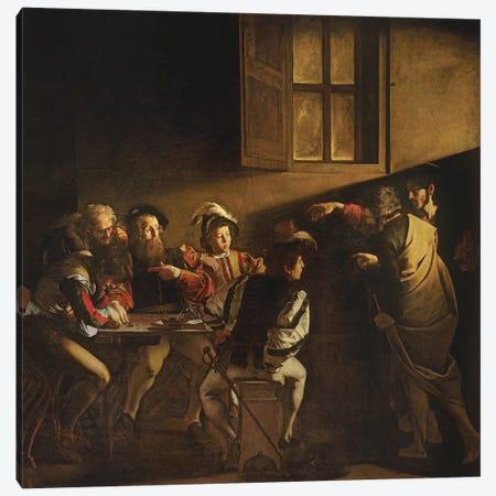The Calling of St. Matthew, c.1598-1601 Canvas Print #BMN9213} by Michelangelo Merisi da Caravaggio Canvas Wall Art