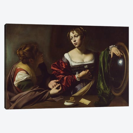 The Conversion of the Magdalene, c.1598 Canvas Print #BMN9214} by Michelangelo Merisi da Caravaggio Art Print