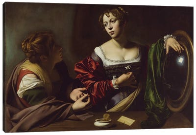 The Conversion of the Magdalene, c.1598 Canvas Art Print