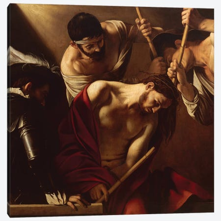 The Crowning with Thorns, c.1603 Canvas Print #BMN9215} by Michelangelo Merisi da Caravaggio Art Print