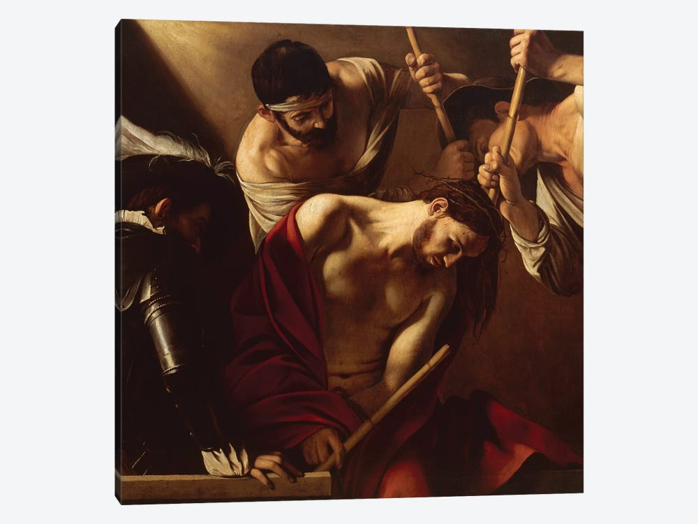 The Crowning with Thorns, c.1603 by Michelangelo Merisi da Caravaggio 1-piece Canvas Art Print