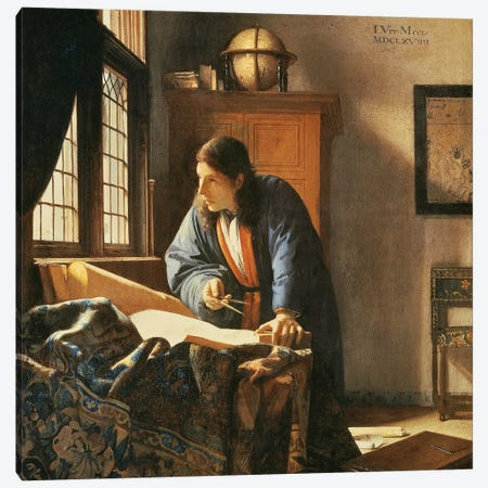Geographer, 1669 Canvas Print #BMN9223} by Jan Vermeer Canvas Print