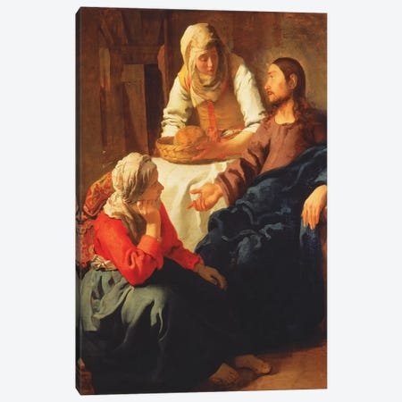 Christ In The House Of Martha And Mary Canvas Print #BMN9227} by Jan Vermeer Canvas Art