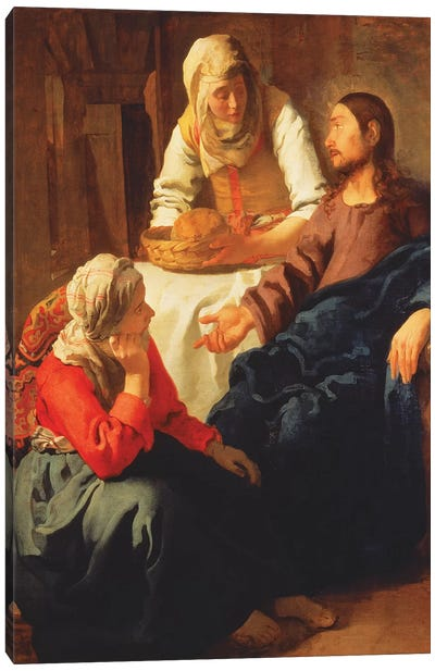 Christ In The House Of Martha And Mary Canvas Art Print