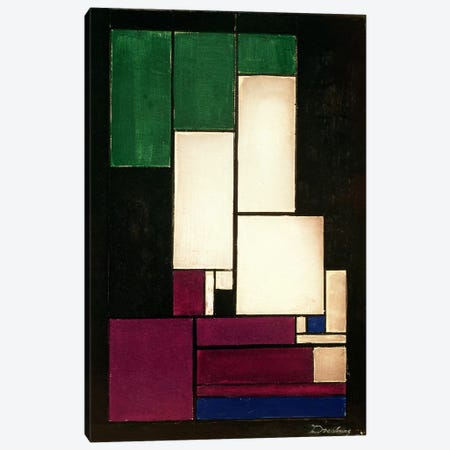 Composition, 1922  Canvas Print #BMN922} by Theo Van Doesburg Canvas Art Print