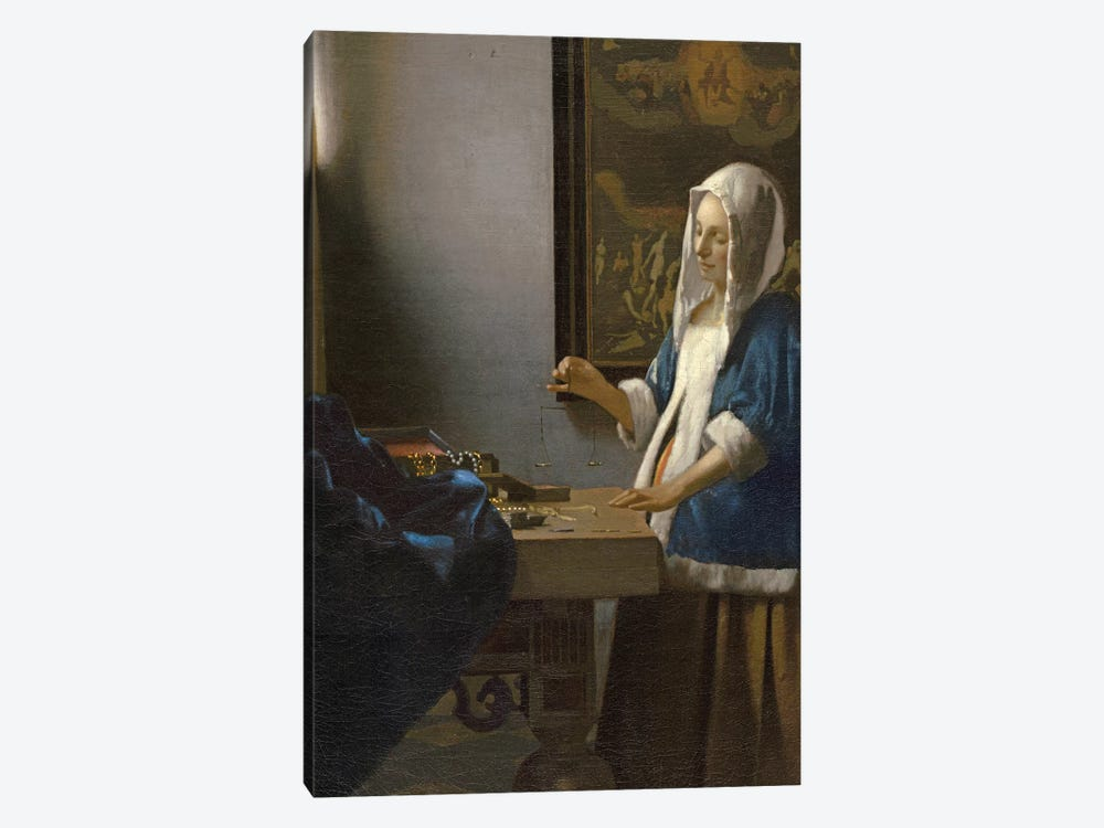 Woman Holding a Balance, c.1664 by Jan Vermeer 1-piece Art Print