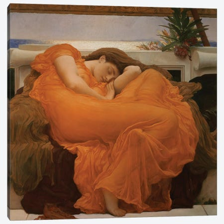 Flaming June, c.1895 Canvas Print #BMN9236} by Frederic Leighton Art Print