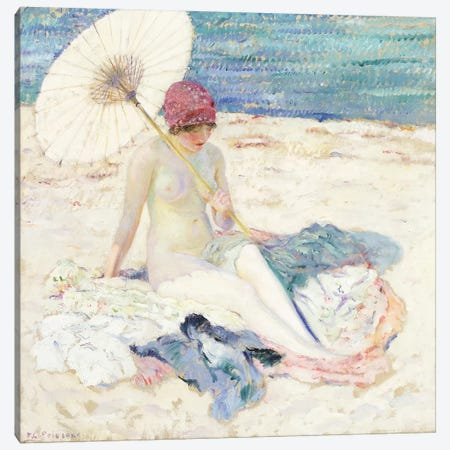 On the Beach, 1913 Canvas Print #BMN9237} by Frederick Carl Frieseke Canvas Print
