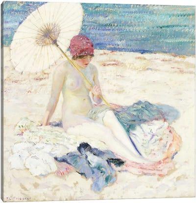 On the Beach, 1913 Canvas Art Print