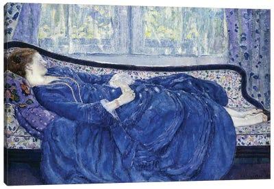 Girl in Blue, 1917 Canvas Art Print