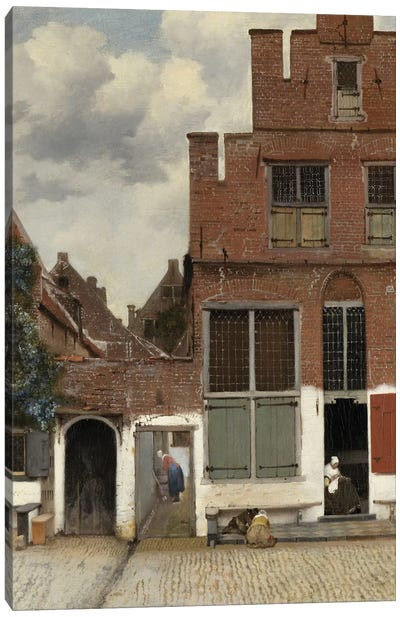 View of Houses in Delft, known as 'The Little Street', c.1658 Canvas Art Print