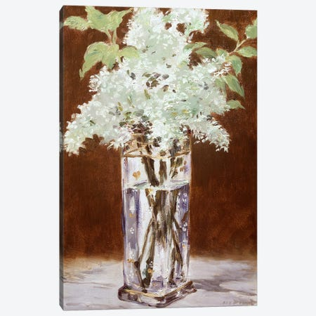 White Lilac in a Crystal Vase, 1882 Canvas Print #BMN9246} by Edouard Manet Canvas Art