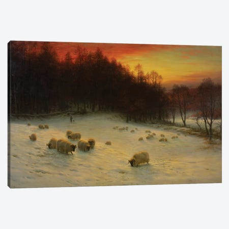 When The West With Evening Glows Canvas Print #BMN9247} by Joseph Farquharson Canvas Artwork