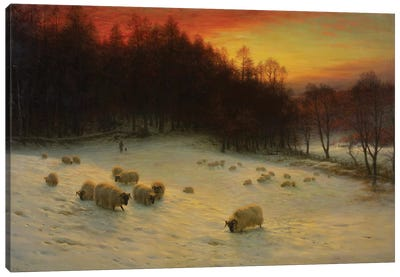 When The West With Evening Glows Canvas Art Print