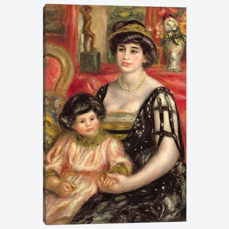 Madame Josse Bernheim-Jeune and her Son Henry, 1910 Canvas Print #BMN924} by Pierre-Auguste Renoir Canvas Wall Art