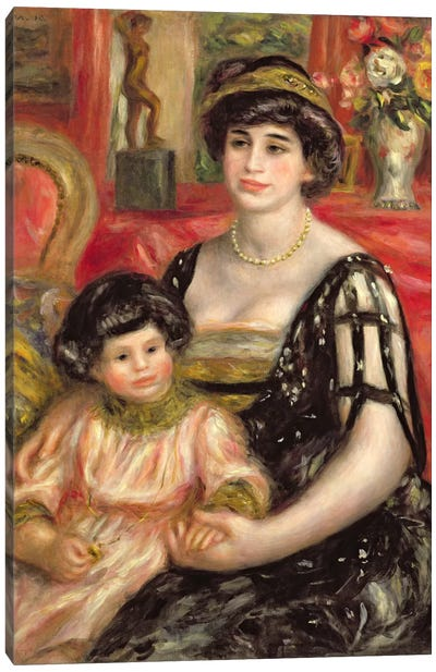 Madame Josse Bernheim-Jeune and her Son Henry, 1910 Canvas Art Print