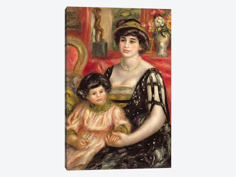 Madame Josse Bernheim-Jeune and her Son Henry, 1910 by Pierre-Auguste Renoir 1-piece Art Print