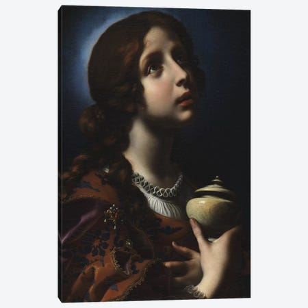 The Penitent Magdalene, c.1650-51 Canvas Print #BMN9250} by Carlo Dolci Canvas Art