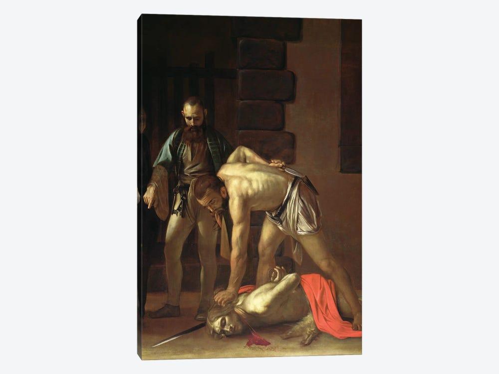 The Decapitation of St. John the Baptist, 1608 by Michelangelo Merisi da Caravaggio 1-piece Canvas Artwork