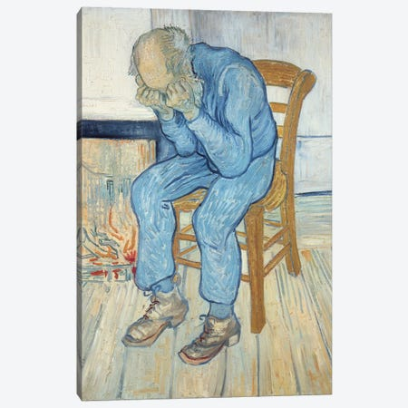 Old Man in Sorrow  1890 Canvas Print #BMN9255} by Vincent van Gogh Canvas Print