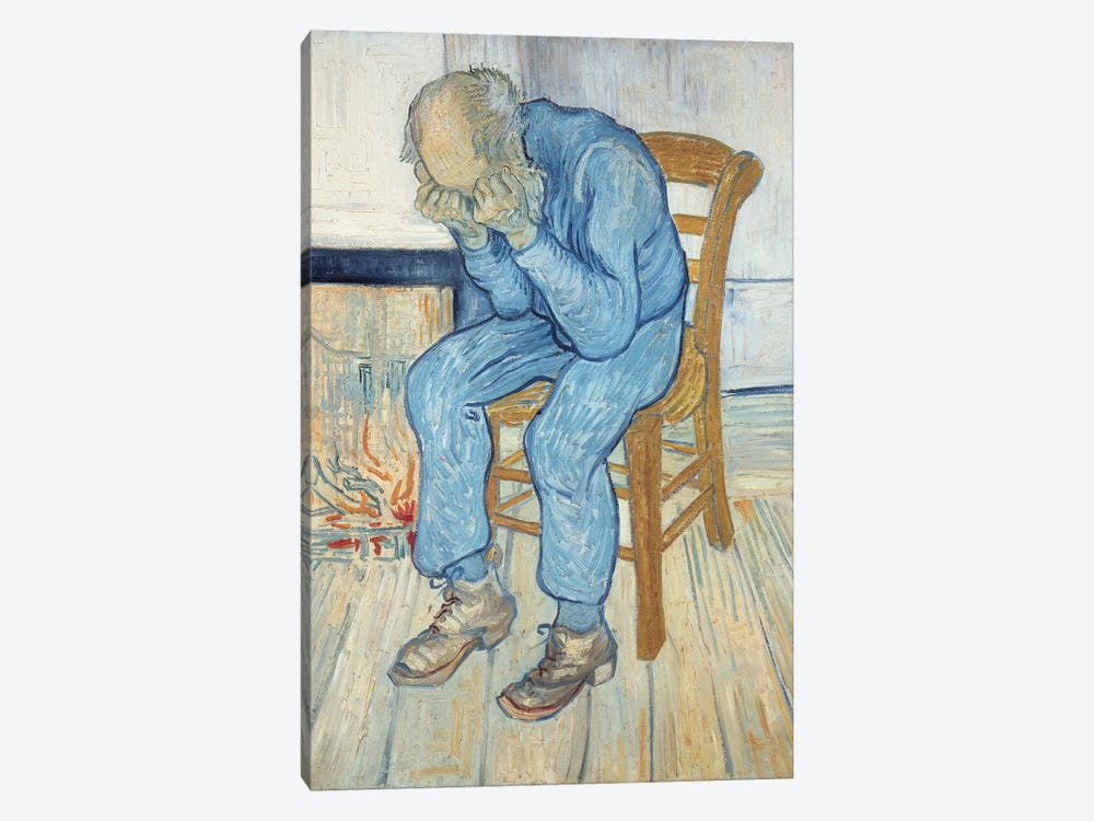 Old Man in Sorrow  1890 by Vincent van Gogh 1-piece Canvas Art Print