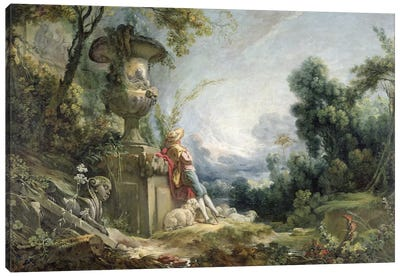 Pastoral Scene, or Young Shepherd in a Landscape Canvas Print #BMN925