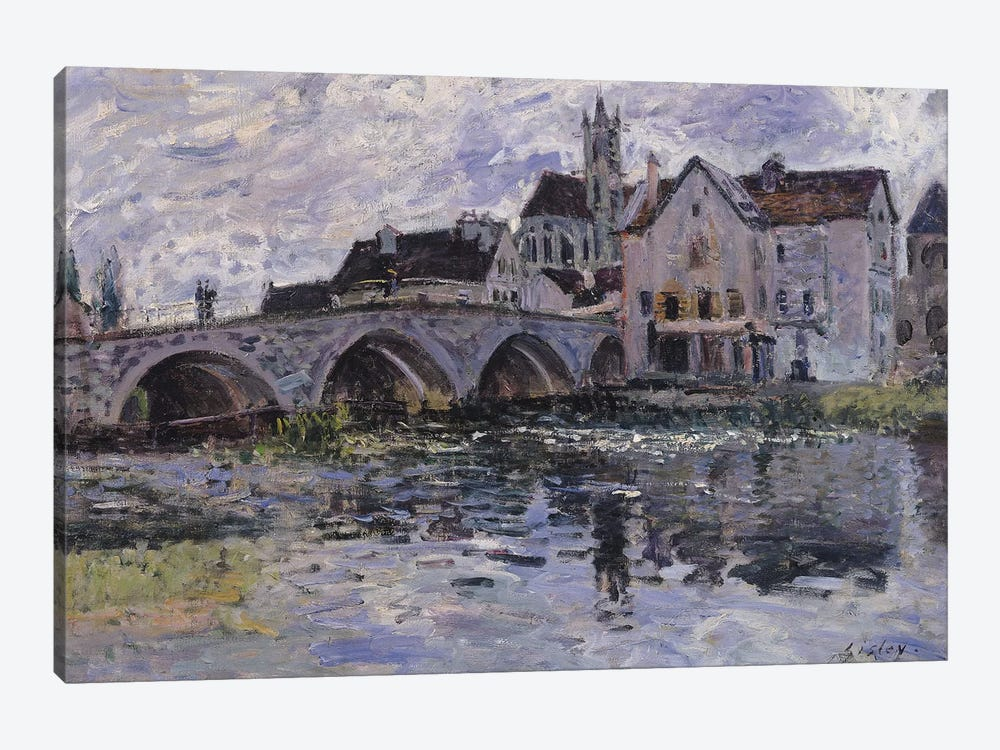 The Bridge of Moret-sur-Loing, 1887  by Alfred Sisley 1-piece Canvas Art Print