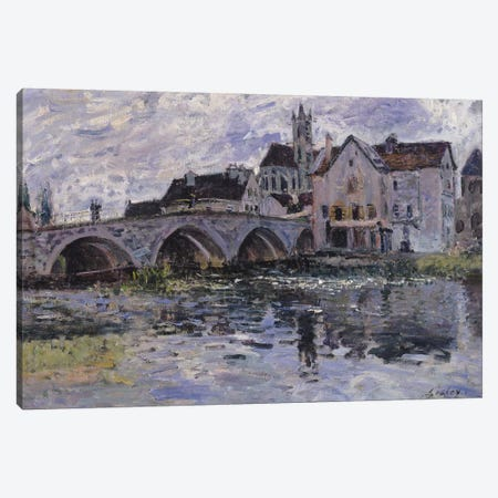 The Bridge of Moret-sur-Loing, 1887  Canvas Print #BMN926} by Alfred Sisley Canvas Wall Art