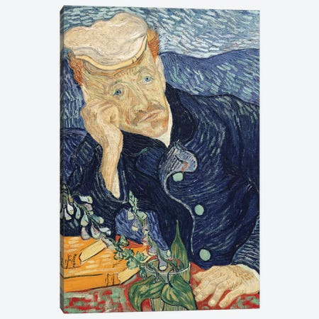 Portrait of Dr Paul Gachet, 1890 3-Piece Canvas #BMN9277} by Vincent van Gogh Art Print