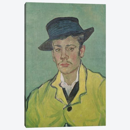 Portrait of Armand Roulin, 1888 3-Piece Canvas #BMN9278} by Vincent van Gogh Canvas Artwork