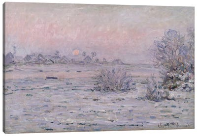 Snowy Landscape at Twilight, 1879-80  Canvas Art Print