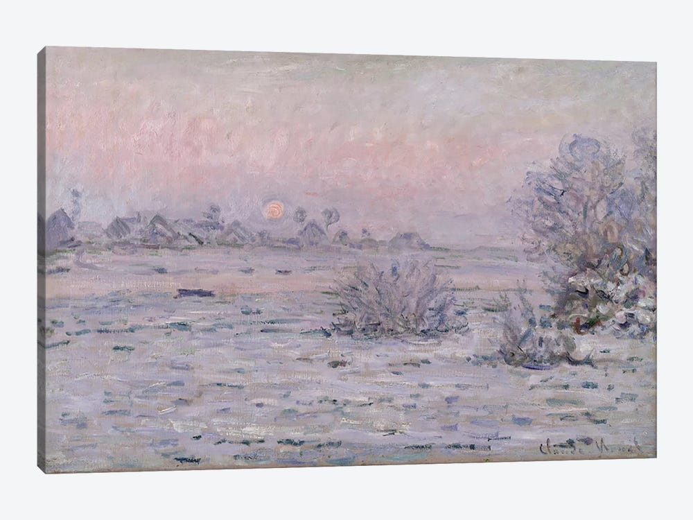 Snowy Landscape at Twilight, 1879-80 by Claude Monet 1-piece Canvas Art