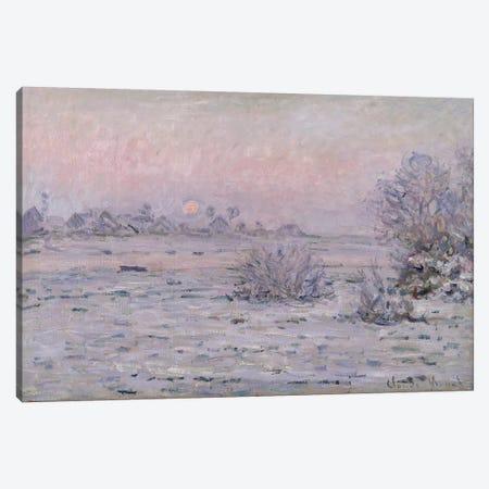 Snowy Landscape at Twilight, 1879-80  Canvas Print #BMN927} by Claude Monet Canvas Artwork