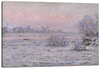 Snowy Landscape at Twilight, 1879-80  Canvas Art Print