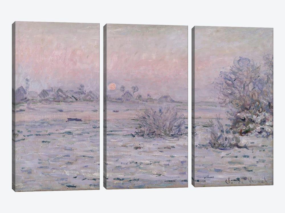Snowy Landscape at Twilight, 1879-80  by Claude Monet 3-piece Canvas Wall Art