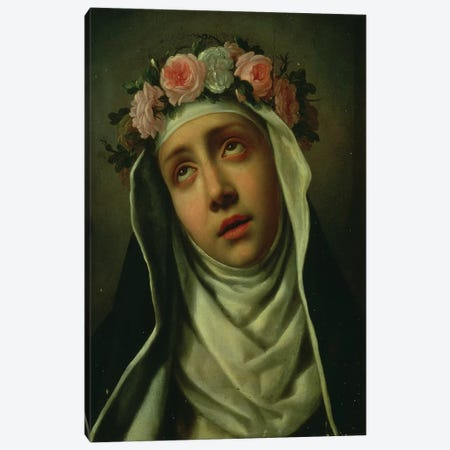 St. Rose of Lima Canvas Print #BMN9280} by Carlo Dolci Canvas Art Print