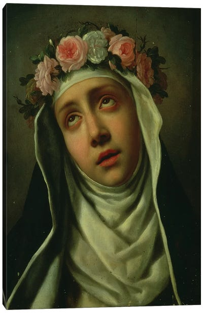St. Rose of Lima Canvas Art Print