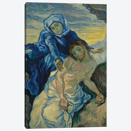 Pieta, 1890 Canvas Print #BMN9285} by Vincent van Gogh Canvas Art