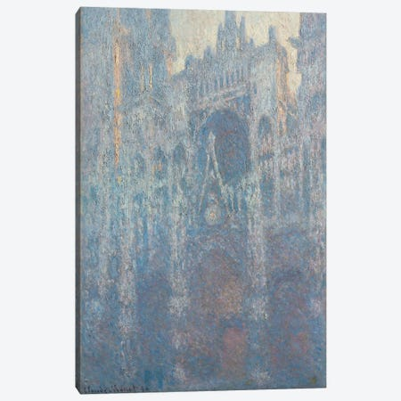 The Portal of Rouen Cathedral in Morning Light, 1894 Canvas Print #BMN9288} by Claude Monet Art Print