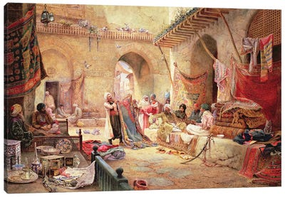 Carpet Bazaar, Cairo, 1887 Canvas Art Print