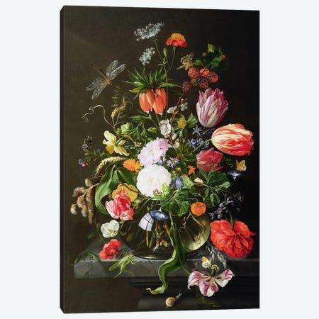 Still Life of Flowers Canvas Print #BMN930} by Jan Davidsz de Heem Canvas Wall Art