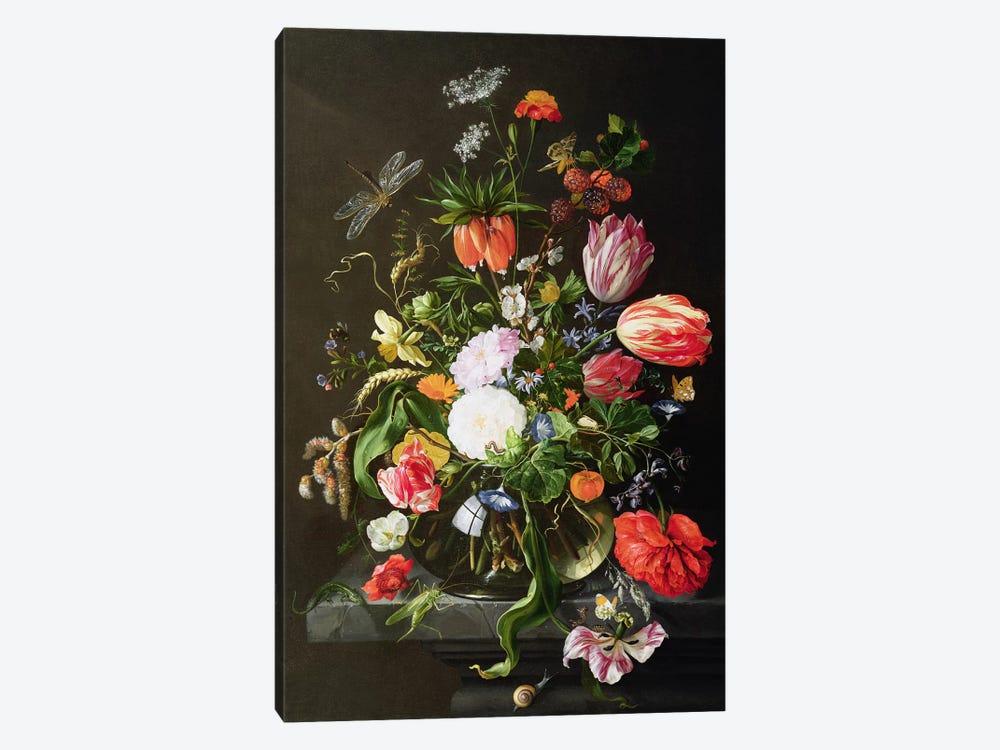 Still Life of Flowers by Jan Davidsz de Heem 1-piece Canvas Artwork
