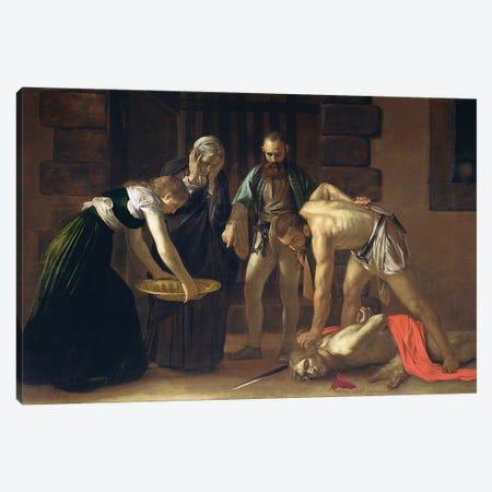 The Decapitation of St. John the Baptist, 1608 Canvas Print #BMN9315} by Michelangelo Merisi da Caravaggio Canvas Art