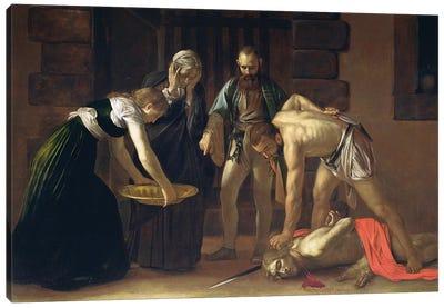 The Decapitation of St. John the Baptist, 1608 Canvas Art Print