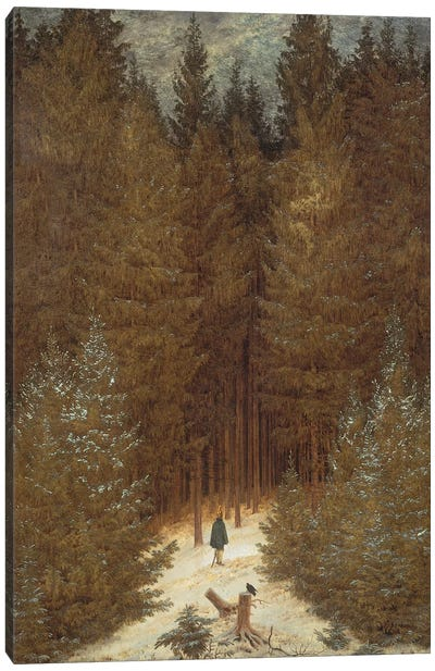 Hunter in the Forest, c.1814 Canvas Art Print