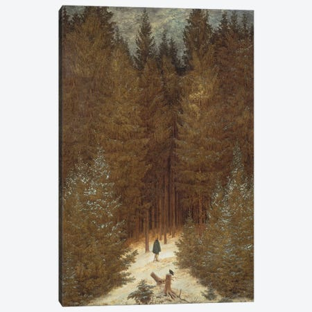 Hunter in the Forest, c.1814 Canvas Print #BMN9318} by Caspar David Friedrich Art Print